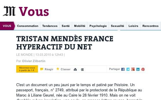 Portrait Le Monde